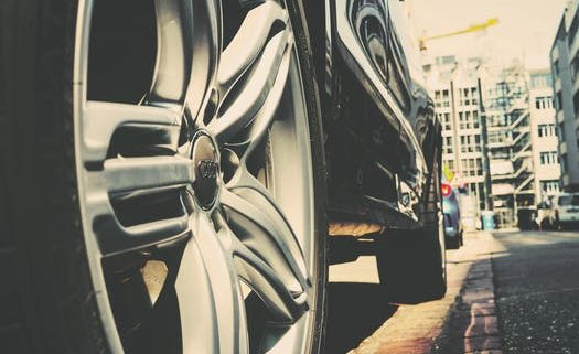 the tires of a car