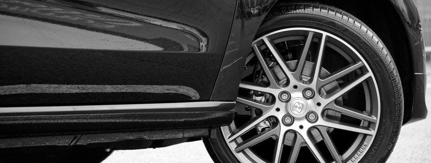 vintage car flat tire